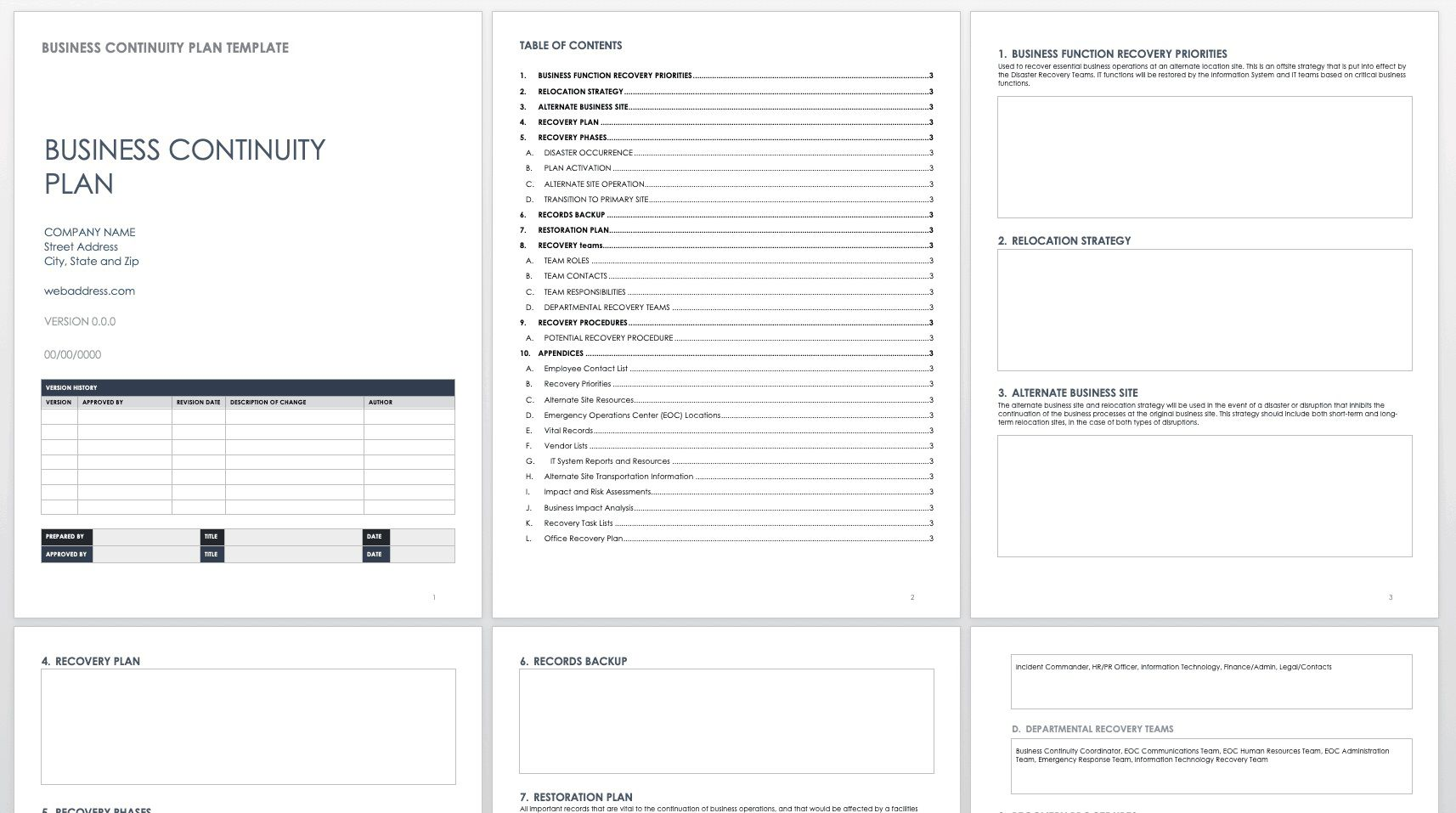 008 Awesome Emergency Operation Plan Template Concept  For Churche Fema BasicFull