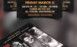 008 Awesome Event Flyer Template Free Psd High Resolution  Music Boxing