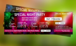 008 Awesome Event Ticket Template Photoshop Image  Design Psd Free Download