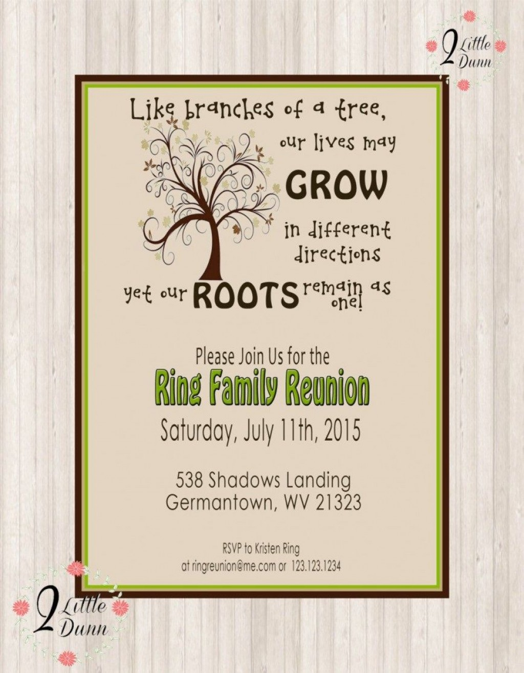 008 Awesome Family Reunion Invitation Card Template Picture Large