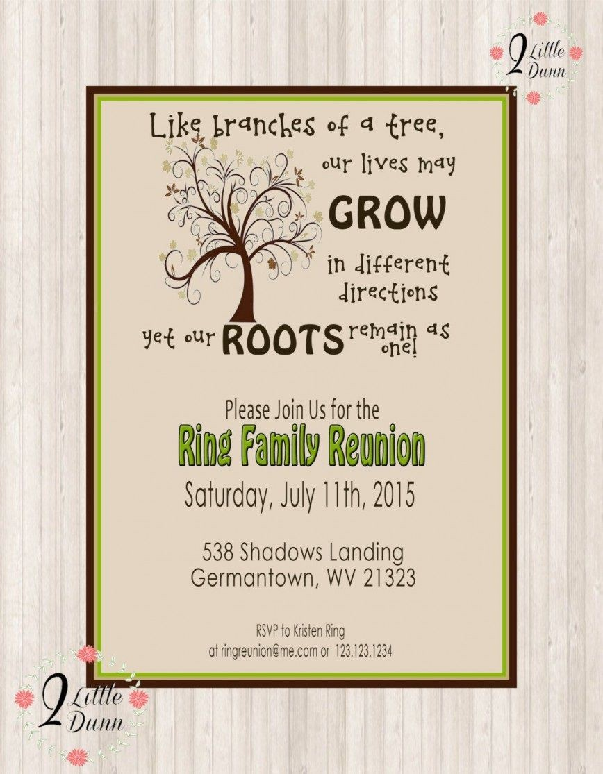 008 Awesome Family Reunion Invitation Card Template Picture