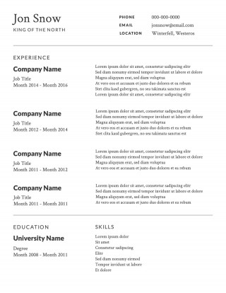 008 Awesome Free Basic Resume Template Highest Clarity  Sample Download For Fresher Microsoft Word 2007320