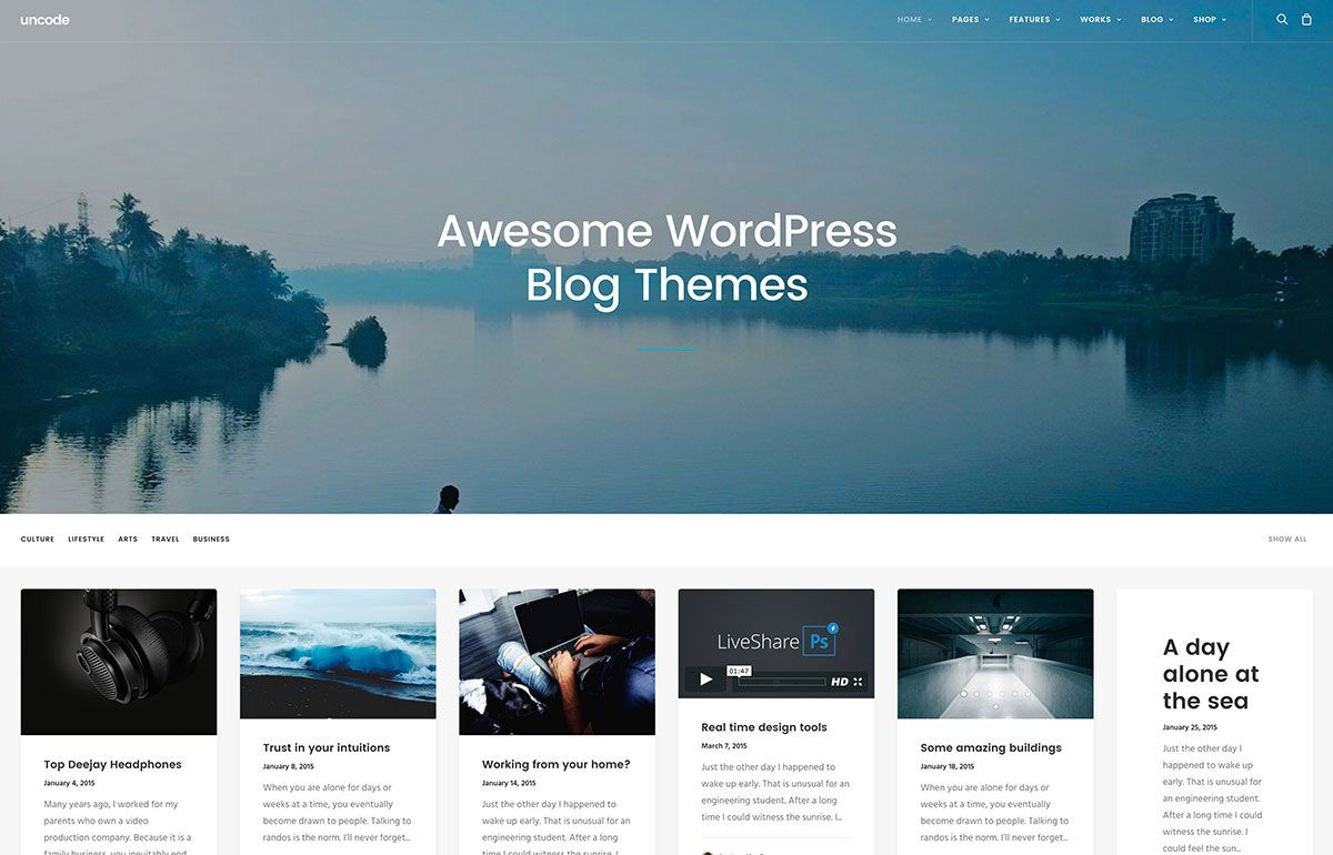 008 Awesome Free Blog Template Wordpres Example  Wordpress Best Travel Theme Food 2020Full