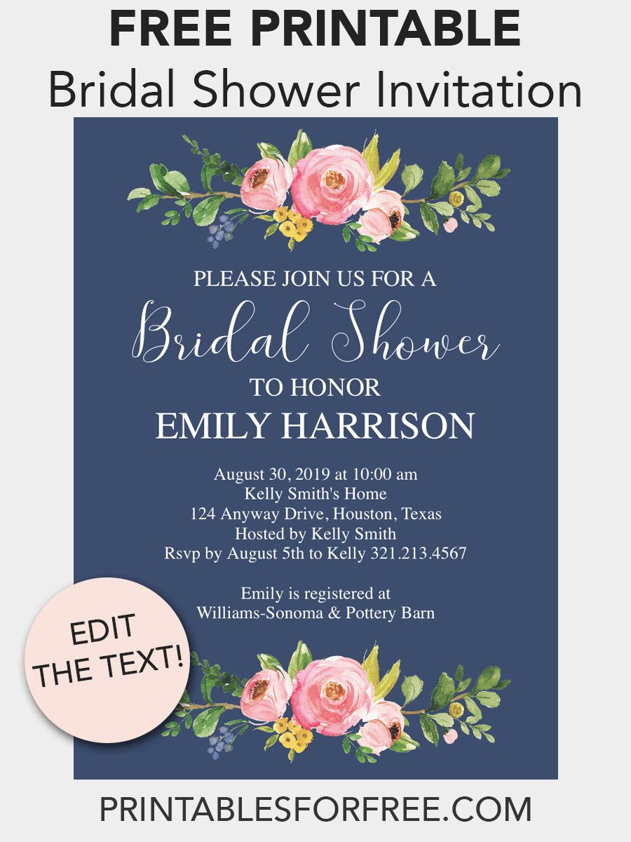 008 Awesome Free Bridal Shower Invite Template High Def  Templates Invitation To Print Online Wedding For Microsoft WordFull