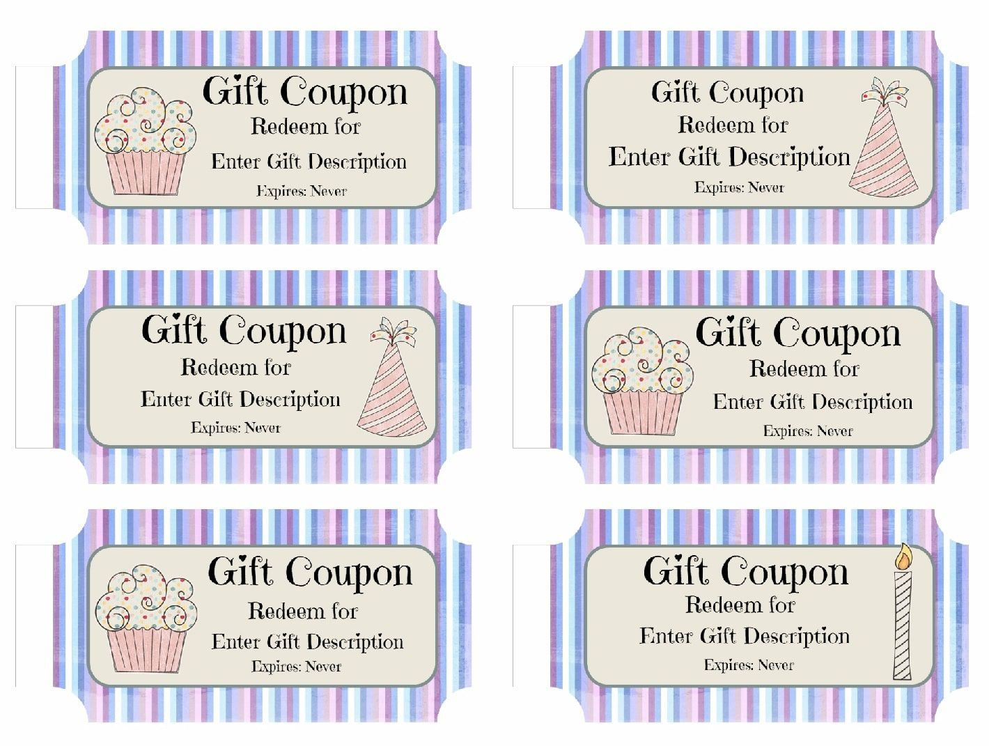 008 Awesome Free Printable Birthday Gift Voucher Template High Def Full