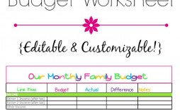 008 Awesome Free Printable Home Budget Template Photo  Form Sheet