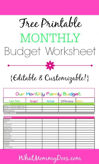 008 Awesome Free Printable Home Budget Template Photo  Form320