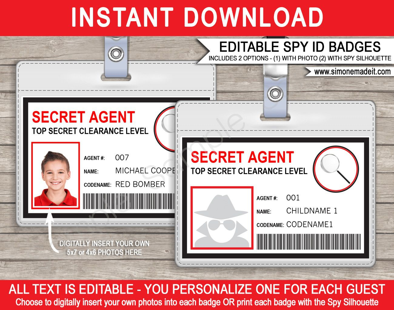 008 Awesome Free Printable Id Card Template Highest Quality  Templates Medical EditableFull