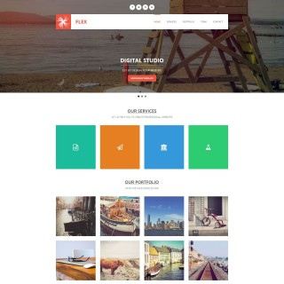 008 Awesome Free Responsive Website Template Download Html And Cs Jquery Photo  For It Company320