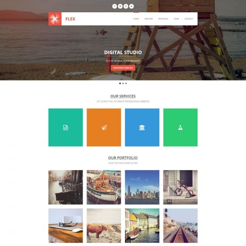 008 Awesome Free Responsive Website Template Download Html And Cs Jquery Photo  For It Company480