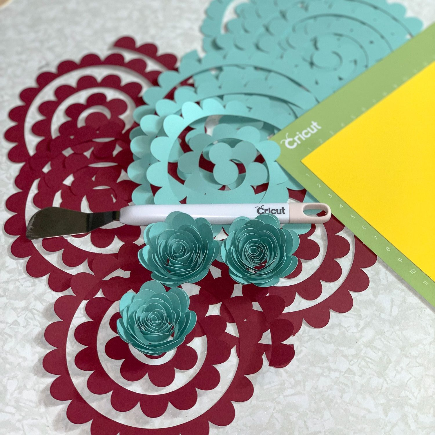 008 Awesome Free Rolled Paper Flower Template For Cricut Example Full