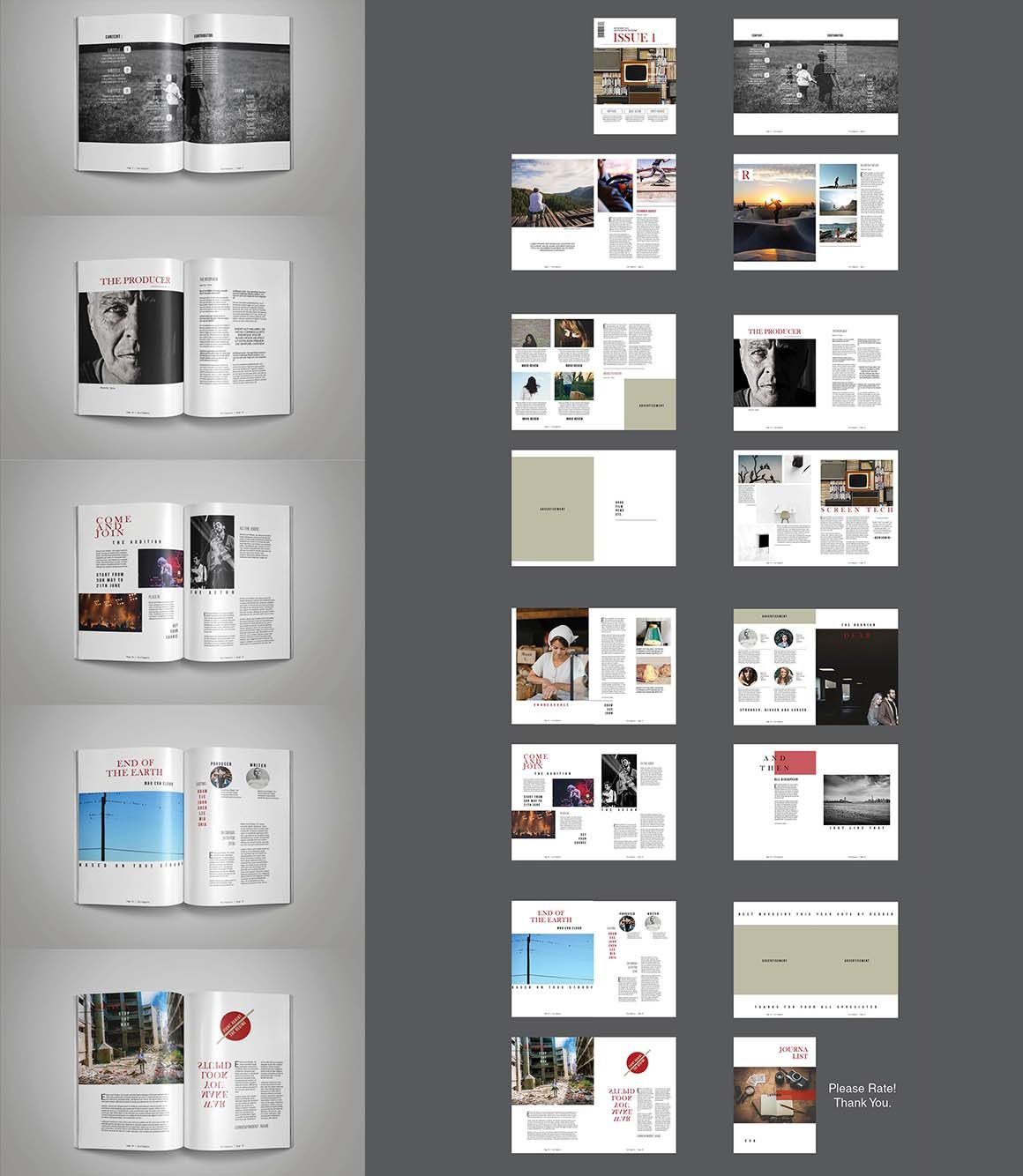 008 Awesome Indesign Template Free Download Design  Portfolio Indd Magazine Adobe BookFull