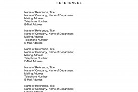 008 Awesome List Of Job Reference Example High Resolution  Format Template