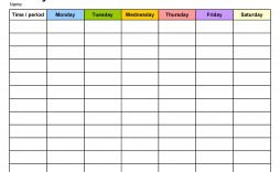 008 Awesome One Week Schedule Template Photo  Calendar Word Agenda