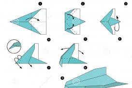 008 Awesome Printable Paper Plane Plan Design  Free Airplane Template Pdf