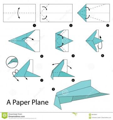 008 Awesome Printable Paper Plane Plan Design  Free Airplane Template Pdf360