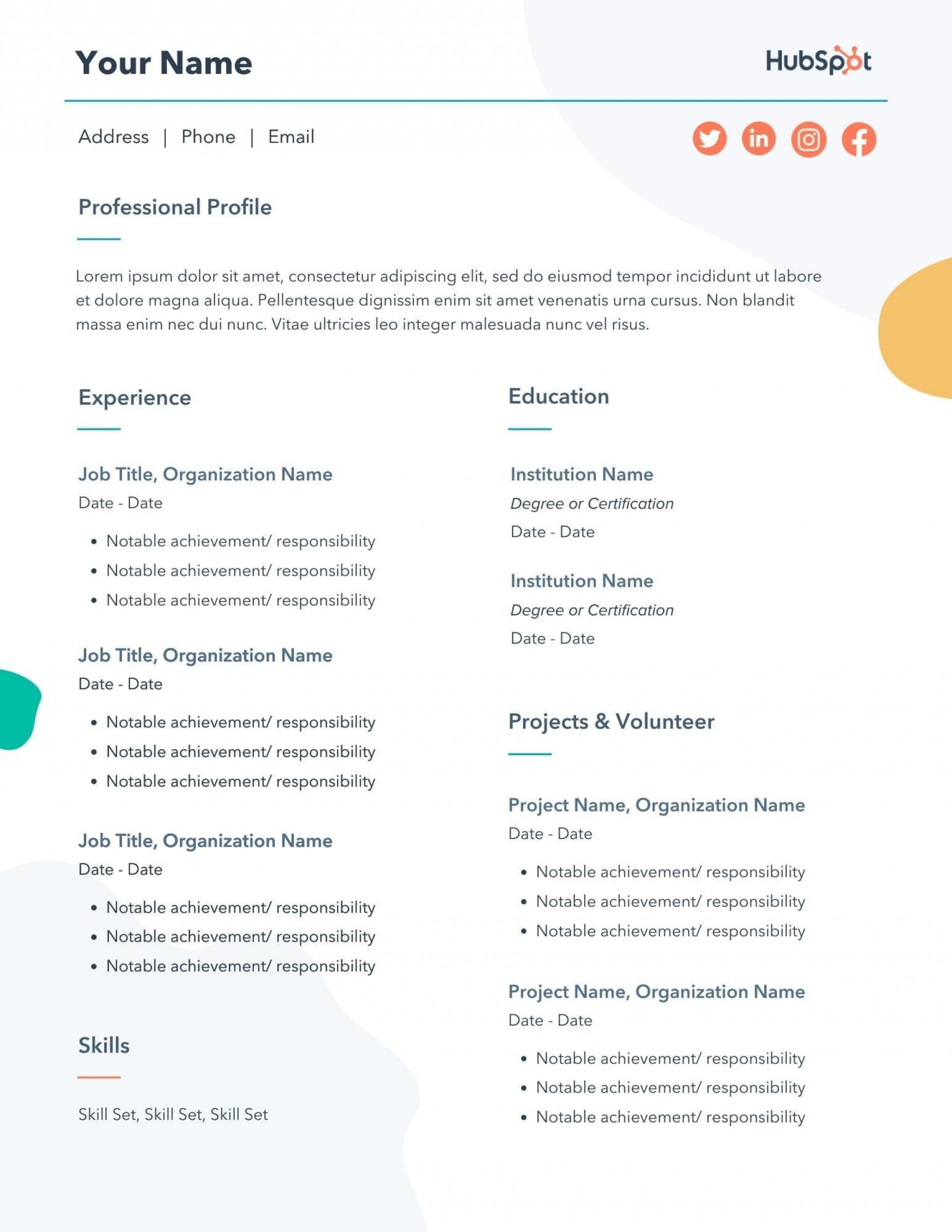 008 Awesome Professional Resume Template Free Download Word Highest Quality  Cv 2020 Format With Photo1920