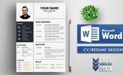 008 Awesome Resume Template Free Word Download Picture  Cv With Photo Malaysia Australia