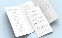 008 Awesome Trifold Wedding Program Template Design  Tri Fold Word Folded Example