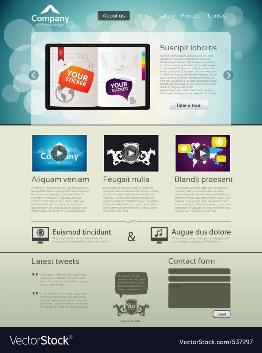 008 Awesome Website Design Template Free Image  Download Psd File Web