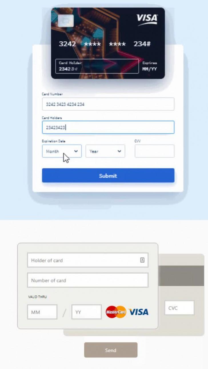 008 Awful Credit Card Form Template Html Example  Payment Cs728