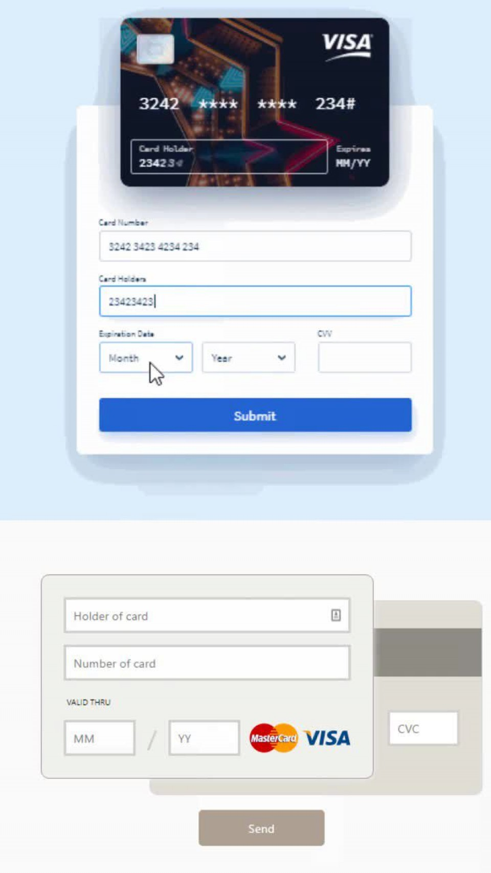 008 Awful Credit Card Form Template Html Example  Payment Cs960