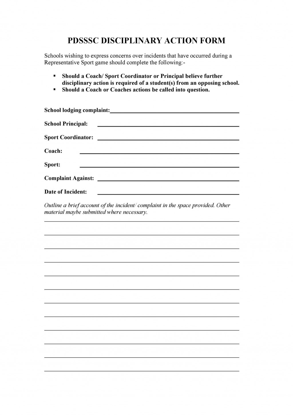 008 Awful Disciplinary Write Up Template Sample  Templates Employer FormLarge