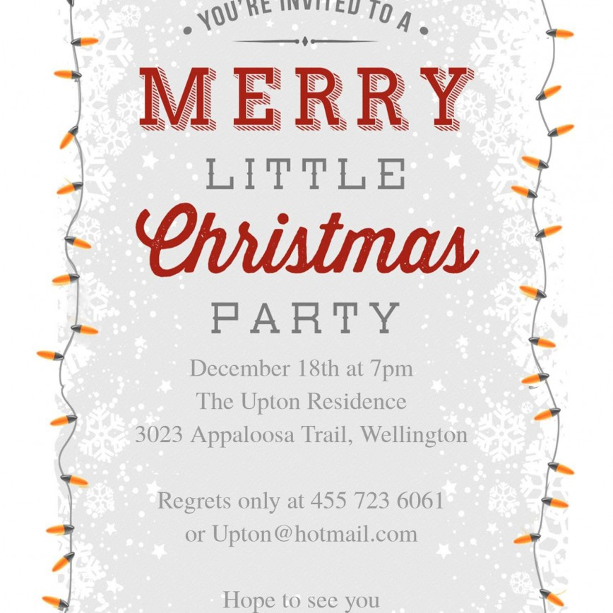 008 Awful Free Holiday Party Flyer Template Word Image