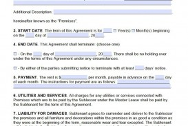 008 Awful Free Lease Agreement Template Word Picture  Commercial Residential Rental South Africa