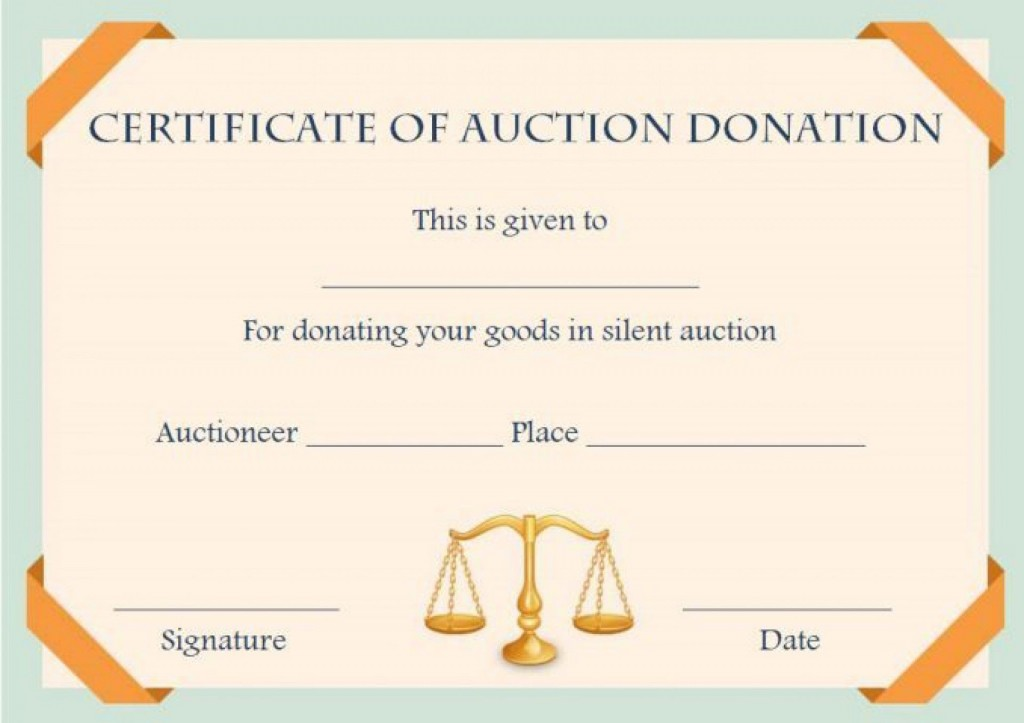 008 Awful Free Silent Auction Gift Certificate Template Photo Large