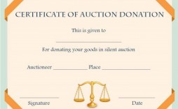 008 Awful Free Silent Auction Gift Certificate Template Photo