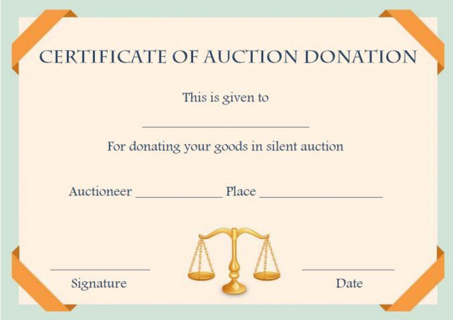 008 Awful Free Silent Auction Gift Certificate Template Photo Full