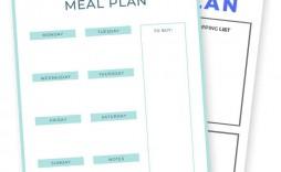 008 Awful Meal Plan Template Pdf Picture  Printable Diabetic Sample Weekly Planning Worksheet