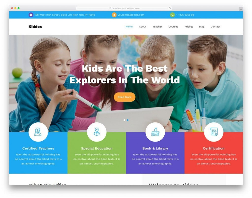 008 Awful School Website Html Template Free Download Concept  Responsive With Cs JqueryLarge