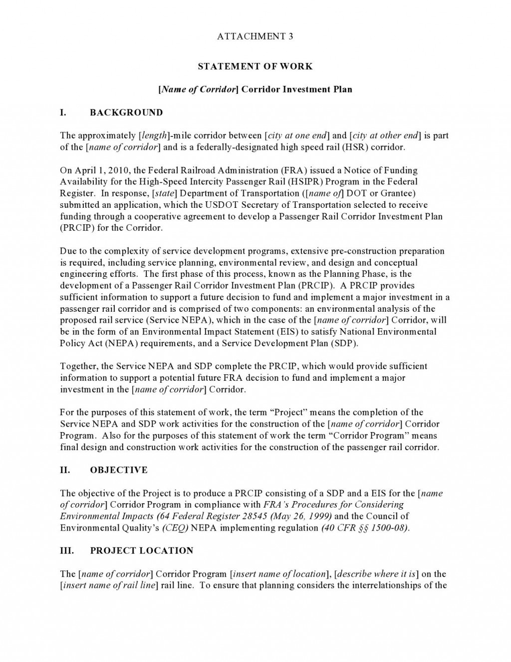 008 Awful Simple Statement Of Work Format Concept Large
