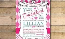 008 Beautiful Alice In Wonderland Invitation Template Download Idea  Free