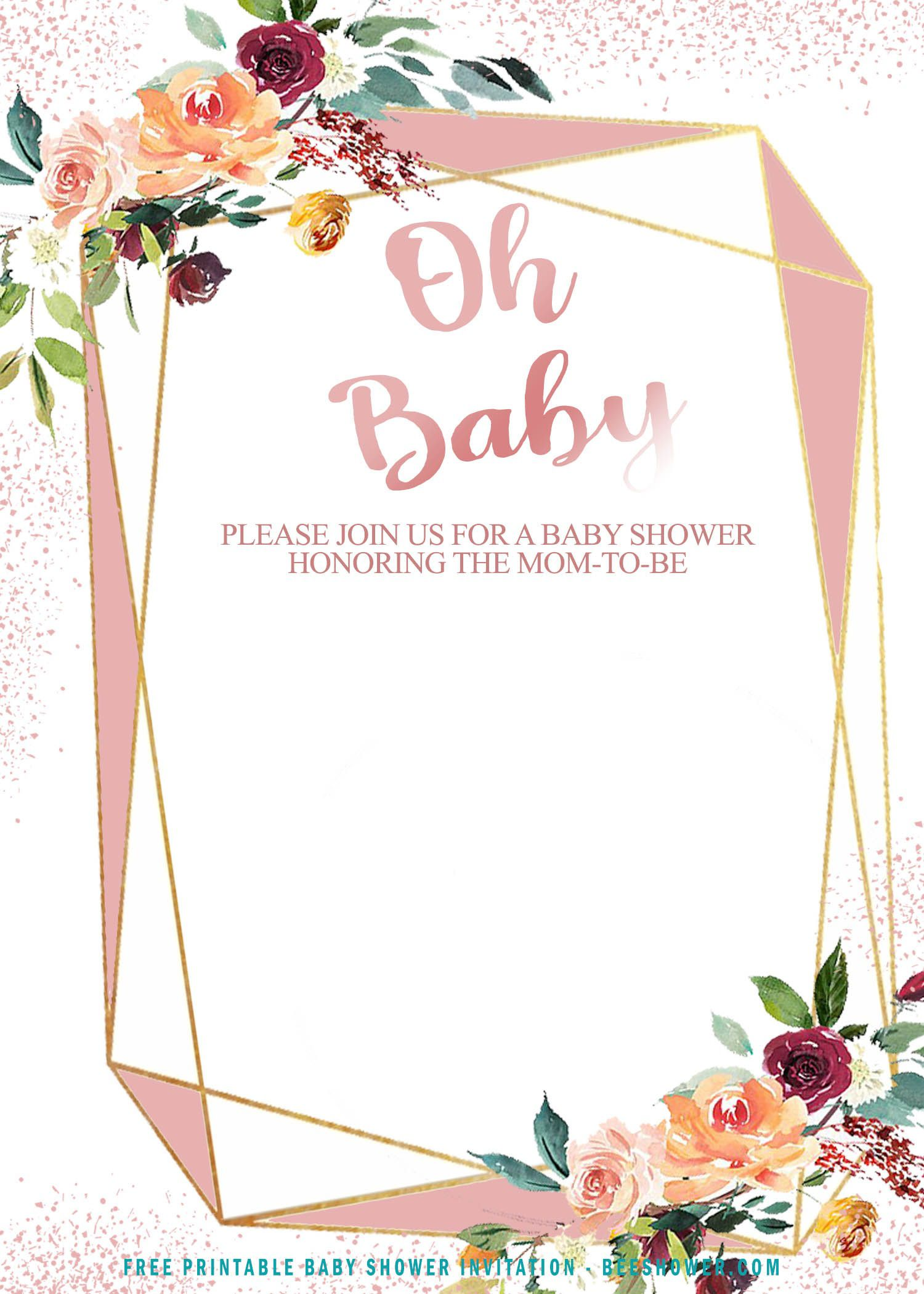 008 Beautiful Baby Shower Invite Template Word Highest Clarity  Invitation Wording Sample Free ExampleFull