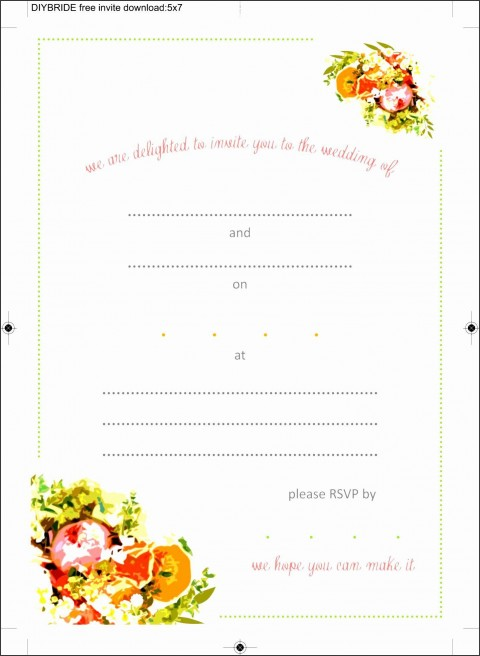 008 Beautiful Blank Birthday Invitation Template For Microsoft Word High Definition 480