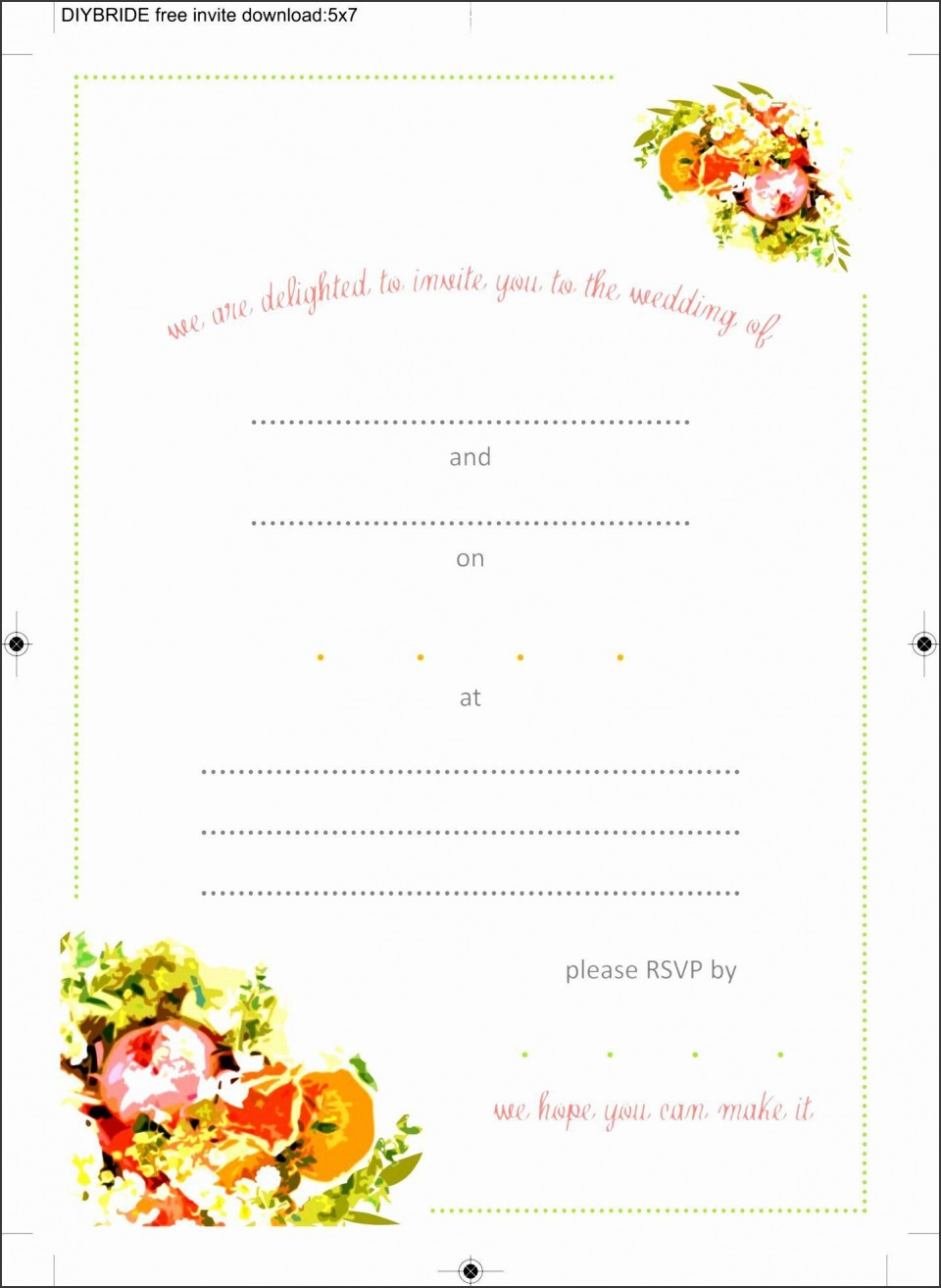 008 Beautiful Blank Birthday Invitation Template For Microsoft Word High Definition 960