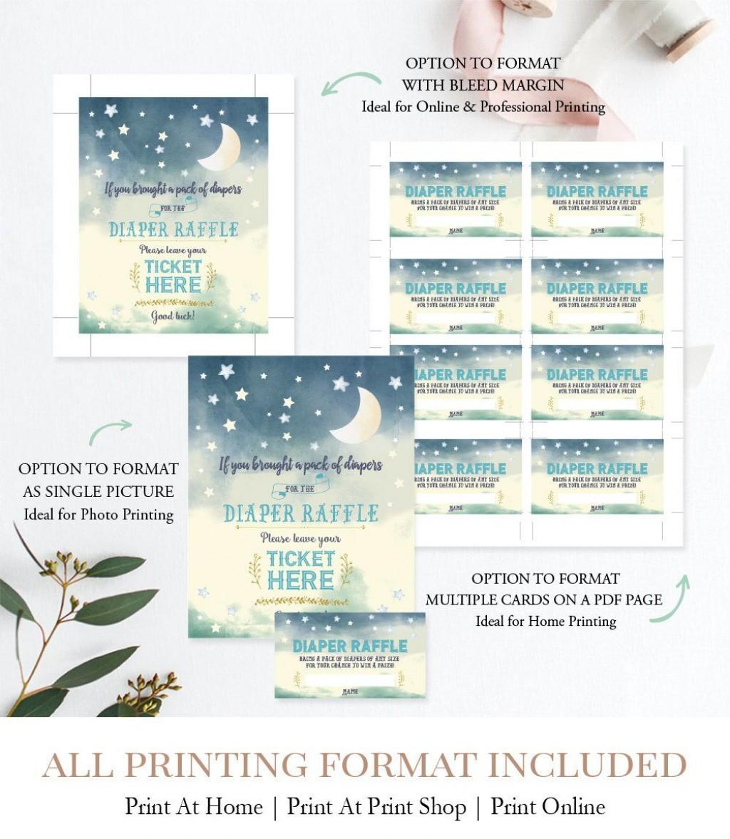 008 Beautiful Diaper Raffle Ticket Template Picture  Free Printable DownloadLarge