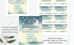 008 Beautiful Diaper Raffle Ticket Template Picture  Free Printable Download