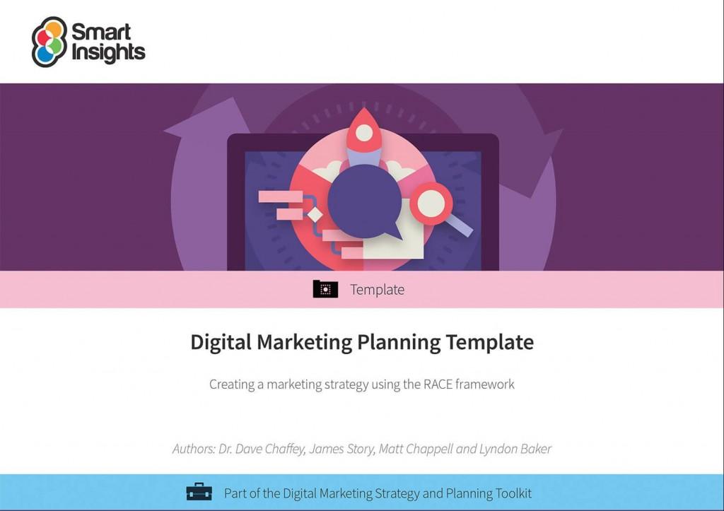 008 Beautiful Digital Marketing Plan Template Word Highest Quality Large
