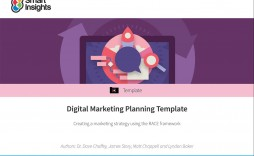 008 Beautiful Digital Marketing Plan Template Word Highest Quality