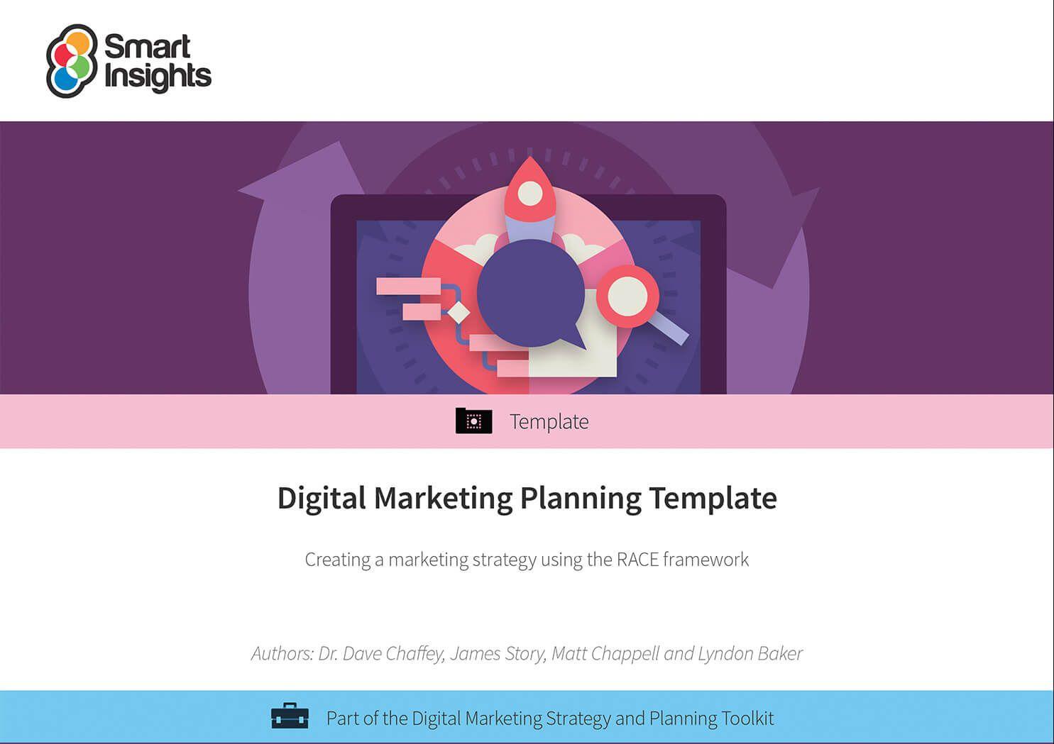 008 Beautiful Digital Marketing Plan Template Word Highest Quality Full