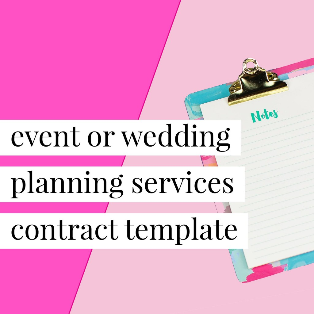 008 Beautiful Event Planner Contract Template Photo  Free Download PlanningLarge