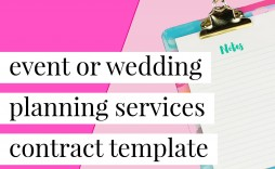 008 Beautiful Event Planner Contract Template Photo  Free Download Planning