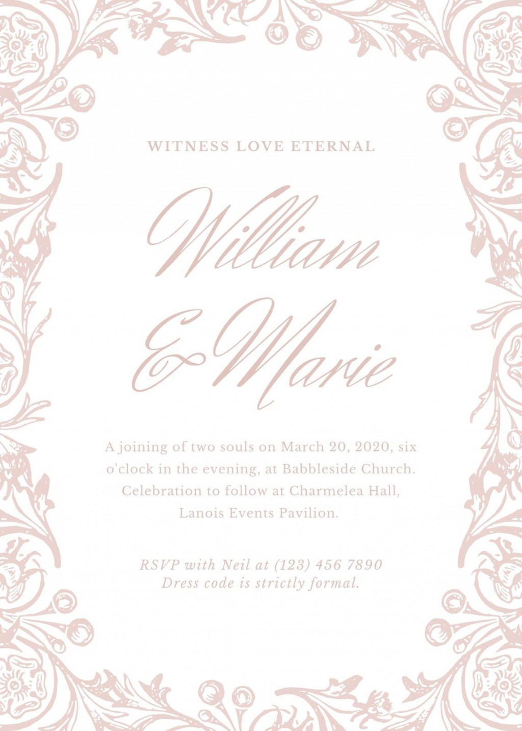 008 Beautiful Formal Wedding Invitation Template High Def  Templates Email Format Wording FreeLarge