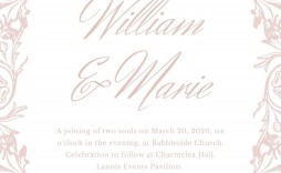 008 Beautiful Formal Wedding Invitation Template High Def  Templates Email Format Wording Free