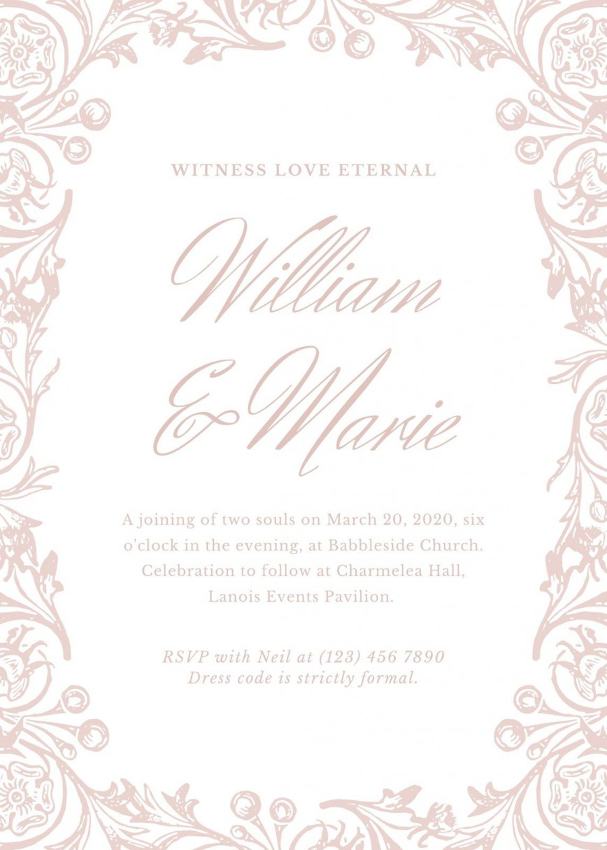 008 Beautiful Formal Wedding Invitation Template High Def  Templates Invite Free Email