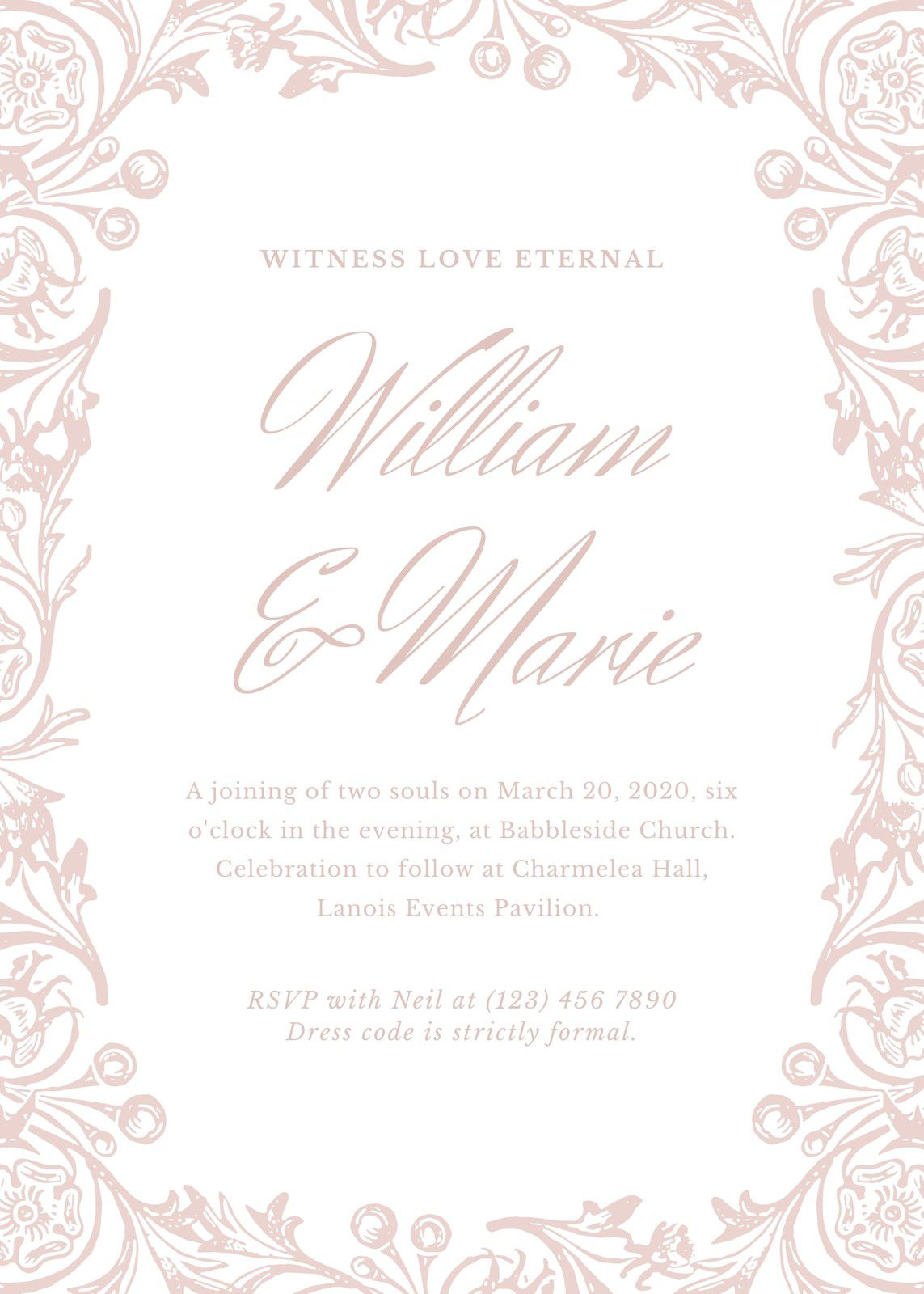 008 Beautiful Formal Wedding Invitation Template High Def  Templates Email Format Wording FreeFull